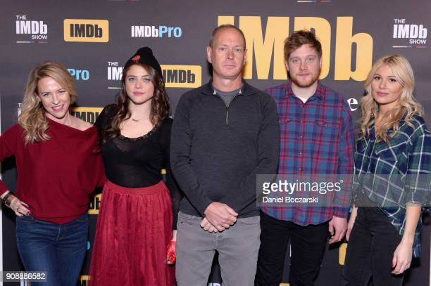 Josh Caras Olivia Luccardi Michael Walker Amy Hargreaves and Comfort Clinton of 'Paint' attend The IMDb Studio and The IMDb Show on Location at The...