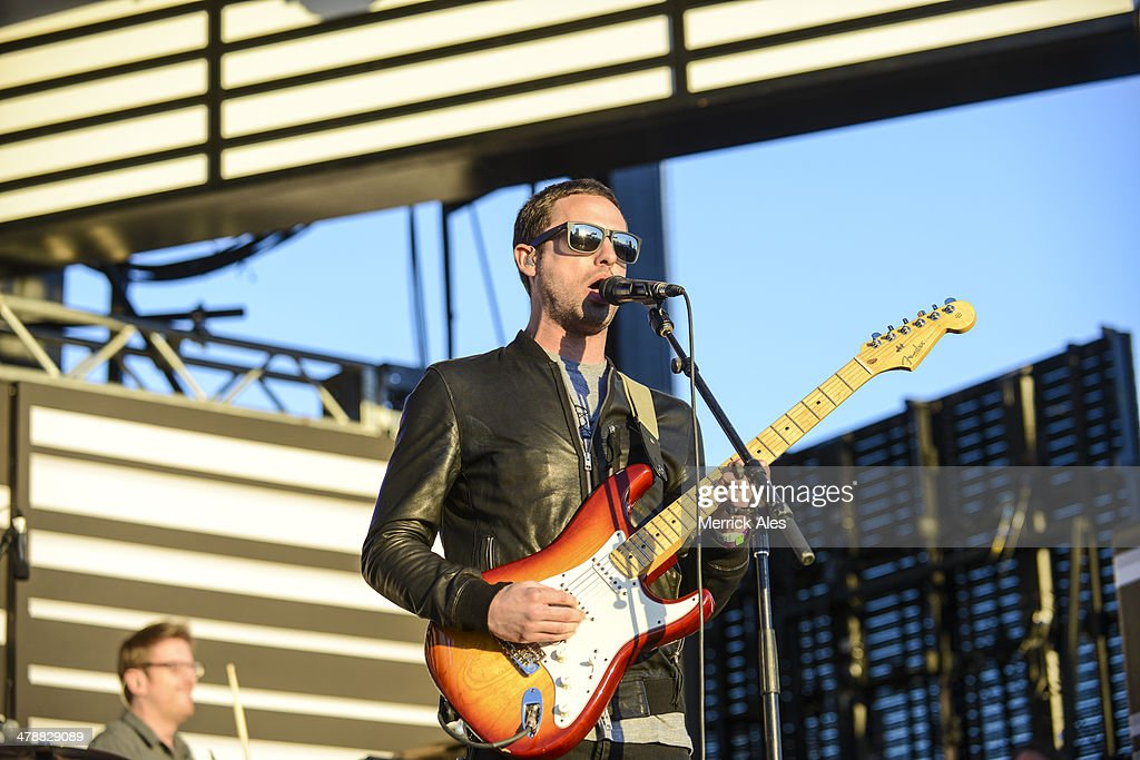 Josh Carter of Phantogram performs at the 2014 mtvU Woodie Awards on March 13, 2014 in Austin, Texas.
