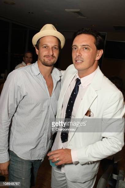 Josh Charles and Donovan Leitch at Donovan Leitch's 40th Birthday Party hosted by Hpnotiq held at The Muholland Tennis Club on August 16 2007 in Los...