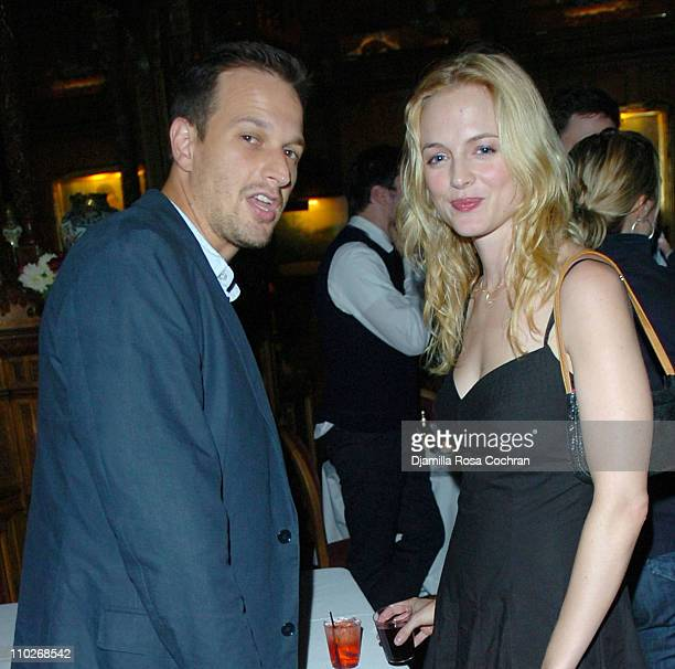 Josh Charles and Heather Graham during Jimmy Fallon's Birthday Party September 24 2005 at The National Arts Club in New York City New York United...