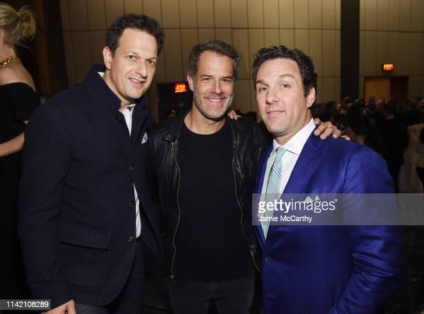 Josh Charles and Matthew Belloni attend The Hollywood Reporter's 9th Annual Most Powerful People In Mediaat The Pool on April 11 2019 in New York City