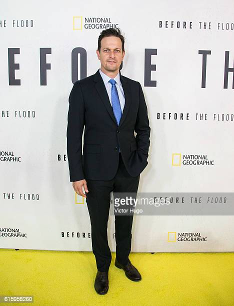 Josh Charles attends National Geographic Channel hosts the New York City Premiere of 'Before the Flood' at the United Nations on October 20 2016 in...