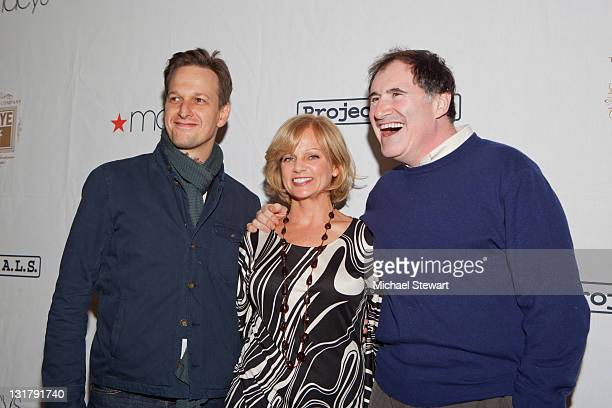 Josh Charles Dana Stanley Kind and Richard Kind attend the Project ALS 13th annual Tomorrow is Tonight benefit at Lucky Strike Lanes Lounge on...