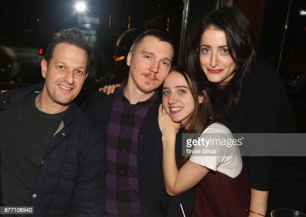 Josh Charles Paul Dano Zoe Kazan and director Lila Neugebauer pose at the Opening Night party for Lincoln Center Theater's 'The Wolves' at PJ...