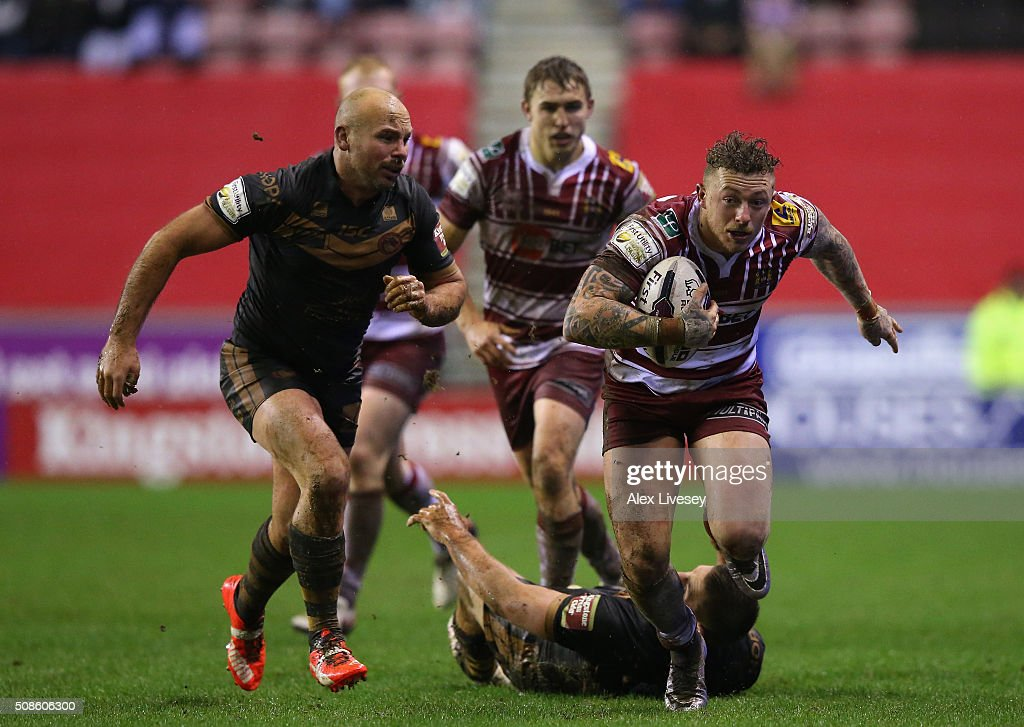 Wigan Warriors v Catalans Dragons - First Utility Super League : News Photo