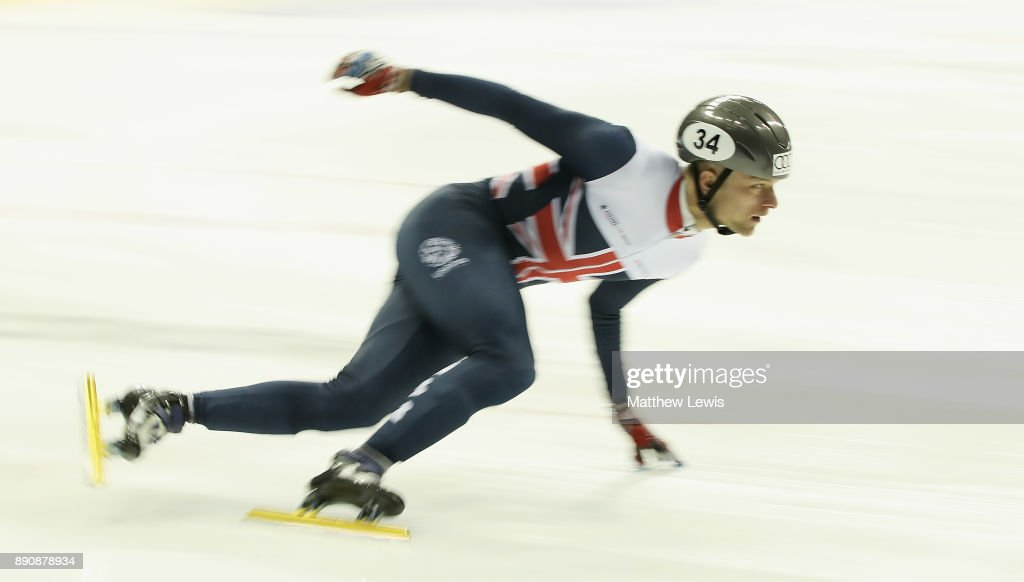 Josh Cheetham of Great Britain pictured during a media day for the Athletes Named in the GB Short Track Speed Skating Team for the PyeongChang 2018 Winter Olympic Games on December 12, 2017 in Nottingham, England.