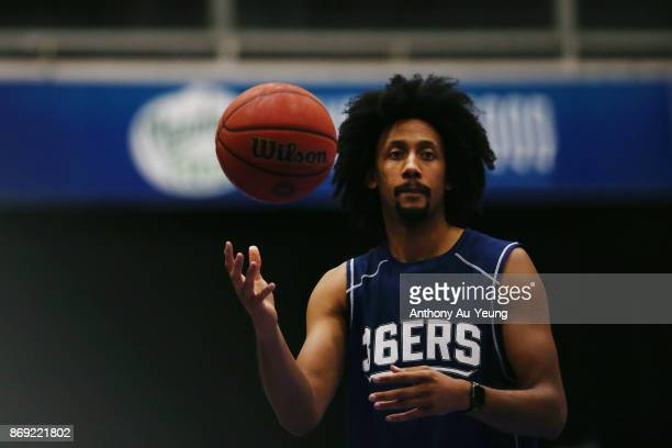 Josh Childress of the 36ers during warm up prior to the round five NBL match between the New Zealand Breakers and the Adelaide 36ers at North Shore...