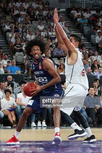 Josh Childress of the Adelaide 36ers drives at the basket during the round 11 NBL match between Melbourne United and the Adelaide 36ers at Hisense...