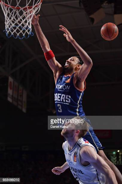 Josh Childress of the Adelaide 36ers drives to the basket during game two of the NBL Grand Final series between the Adelaide 36ers and Melbourne...
