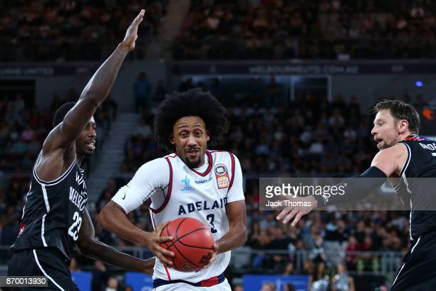 Josh Childress of the Adelaide 36ers drives to the basket during the round five NBL match between Melbourne United and the Adelaide 36ers at Hisense...