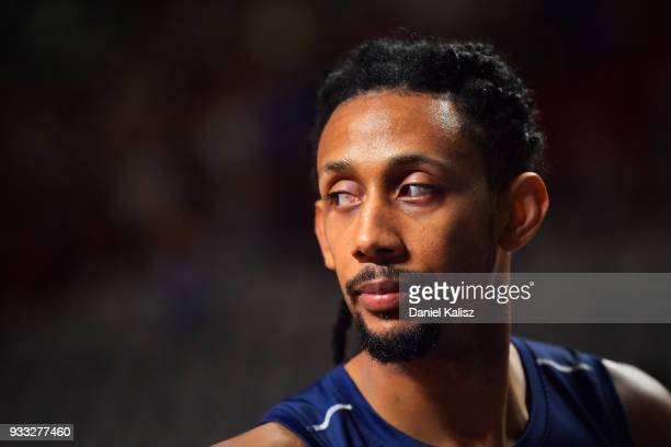 Josh Childress of the Adelaide 36ers looks on prior to game two of the NBL Grand Final series between the Adelaide 36ers and Melbourne United at...