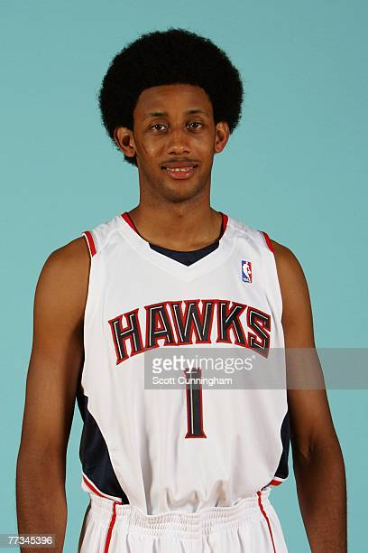Josh Childress of the Atlanta Hawks poses for a portrait during NBA Media Day at Philips Arena on October 1 2007 in Atlanta Georgia NOTE TO USER User...