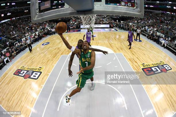 Josh Childress of the Ball Hogs drives to the basket against the Ghost Ballers during week nine of the BIG3 three-on-three basketball league at the...