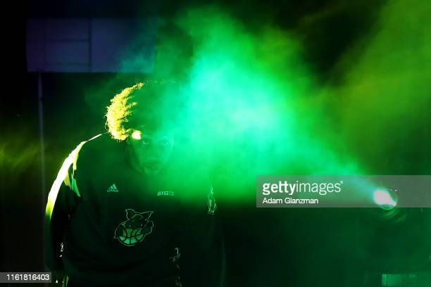 Josh Childress of the Ball Hogs is introduced against 3's Company during week four of the BIG3 three on three basketball league at Dunkin' Donuts...