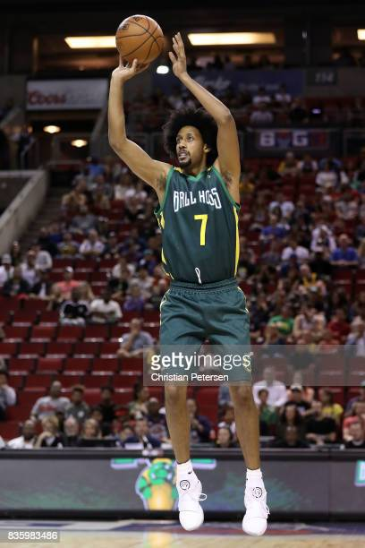 Josh Childress of the Ball Hogs shoots the ball against the Killer 3s in week nine of the BIG3 threeonthree basketball league at KeyArena on August...