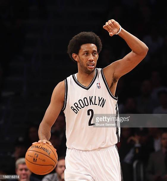 Josh Childress of the Brooklyn Nets moves up court against the Boston Celtics at the Barclays Center on November 15 2012 in the Brooklyn borough of...