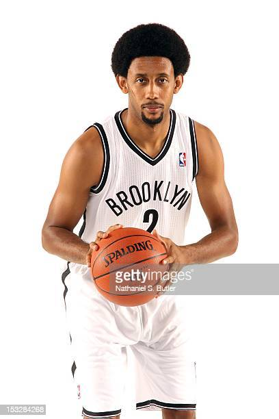Josh Childress of the Brooklyn Nets poses for a portrait during Media Day on October 1, 2012 at Barclay's Center in Brooklyn Borough of New York, New...