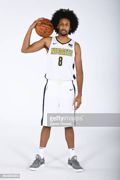 Josh Childress of the Denver Nuggets poses for a photo during media day on September 25 2017 at the Pepsi Center in Denver Colorado NOTE TO USER User...