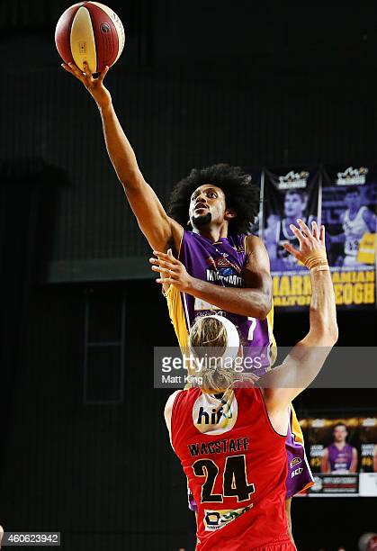 Josh Childress of the Kings drives to the basket during the round 11 NBL match between the Sydney Kings and the Perth Wildcats at Sydney...