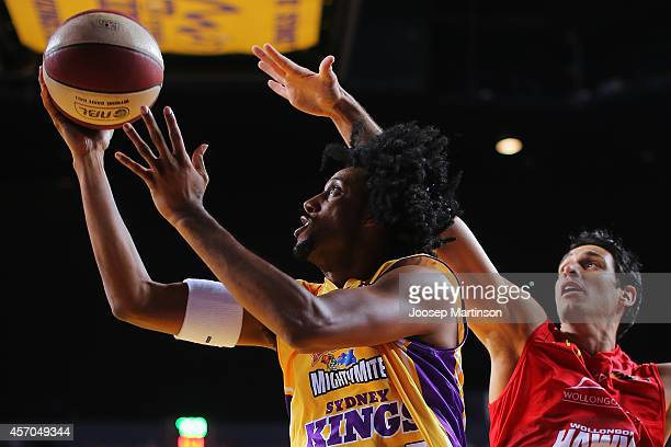 Josh Childress of the Kings drives to the basket during the round one NBL match between the Sydney Kings and the Wollongong Hawks at Qantas Credit...