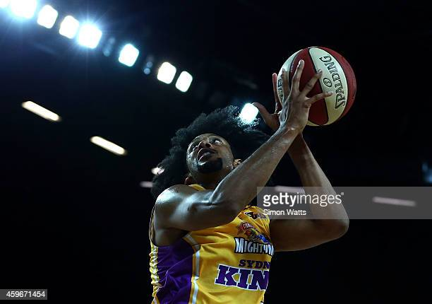 Josh Childress of the Kings drives to the basket during the round eight NBL match between New Zealand Breakers and Sydney Kings at Vector Arena on...