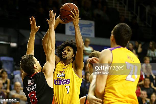 Josh Childress of the Kings in action during the round eight NBL match between the Illawarra Hawks and the Sydney Kings at Wollongong Entertainment...