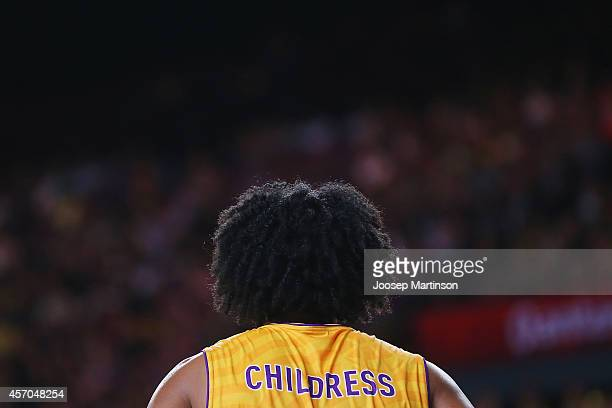 Josh Childress of the Kings looks on during the round one NBL match between the Sydney Kings and the Wollongong Hawks at Qantas Credit Union Arena on...