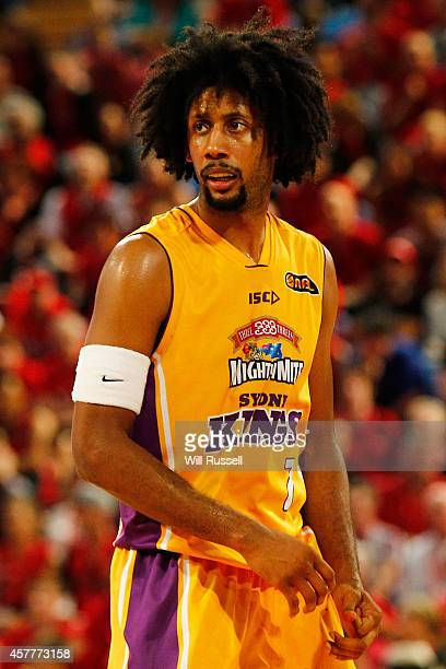 Josh Childress of the Kings looks on during the round three NBL match between the Perth Wildcats and the Sydney Kings at Perth Arena on October 24,...