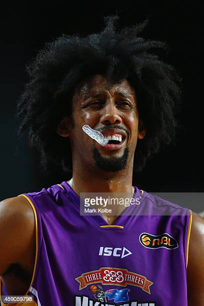 Josh Childress of the Kings shows his frustration during the round six NBL match between the Sydney Kings and the Perth Wildcats at Sydney...