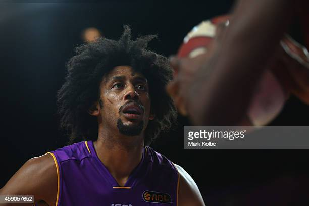 Josh Childress of the Kings watches on as he marks his man during the round six NBL match between the Sydney Kings and the Perth Wildcats at Sydney...