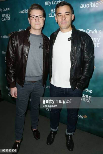 Josh Cockream and Conrad Ricamora attend the opening night of Harry Clarke at the Minetta Lane Theatre on March 18 2018 in New York City