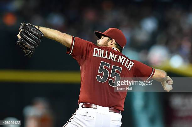 Josh Collmenter of the Arizona Diamondbacks delivers a pitch against the St Louis Cardinals at Chase Field on September 28 2014 in Phoenix Arizona