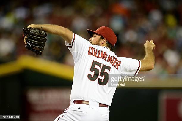 Josh Collmenter of the Arizona Diamondbacks delivers a pitch against the Philadelphia Phillies at Chase Field on April 25 2014 in Phoenix Arizona