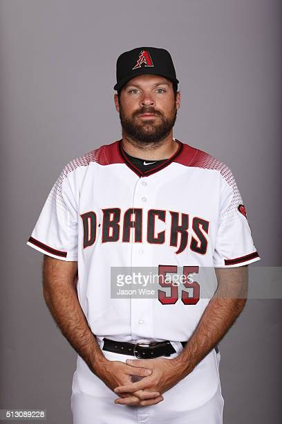 Josh Collmenter of the Arizona Diamondbacks poses during Photo Day on Sunday February 28 2016 at Salt River Fields at Talking Stick in Scottsdale...