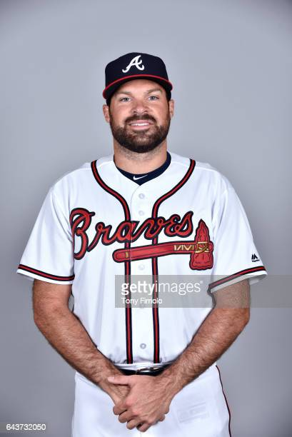 Josh Collmenter of the Atlanta Braves poses during Photo Day on Tuesday February 21 2017 at Champion Stadium in Lake Buena Vista Florida