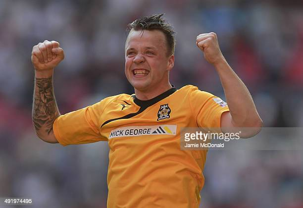 Josh Coulson of Cambridge United celebrates during the Skrill Conference Premier PlayOffs Final between Cambridge United and Gateshead FC at Wembley...
