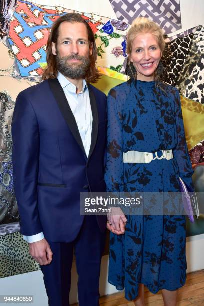 Josh Crosby and Amy Swift Crosby attend Tribeca Ball to benefit New York Academy of Art at New York Academy of Art on April 9, 2018 in New York City....