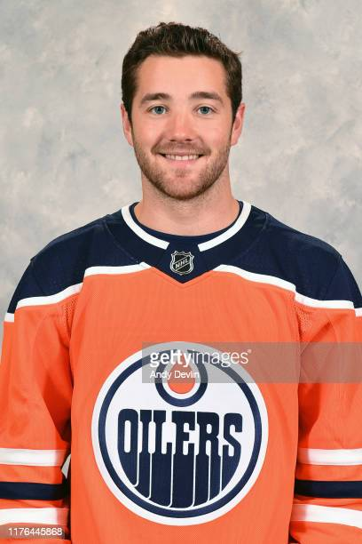 Josh Currie of the Edmonton Oilers poses for his official headshot for the 20192020 season on September 14 2019 at Rogers Place in Edmonton Alberta...