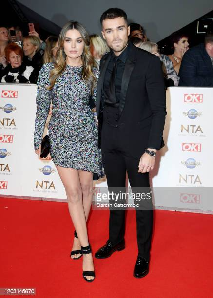 Josh Cuthbert and Chloe Lloyd attend the National Television Awards 2020 at The O2 Arena on January 28 2020 in London England