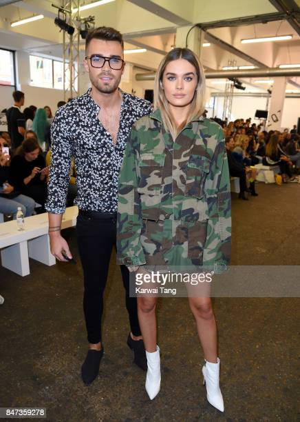 Josh Cuthbert and Chloe Lloyd attend the Streets of EQT Fashion Show at The Old Truman Brewery on September 15 2017 in London England Hailey Baldwin...