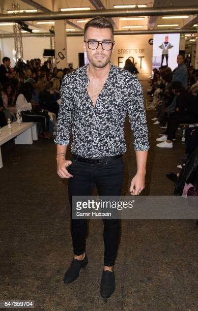 Josh Cuthbert attends Streets of EQT a fashion show celebrating street style at The Old Truman Brewery on September 15 2017 in London England