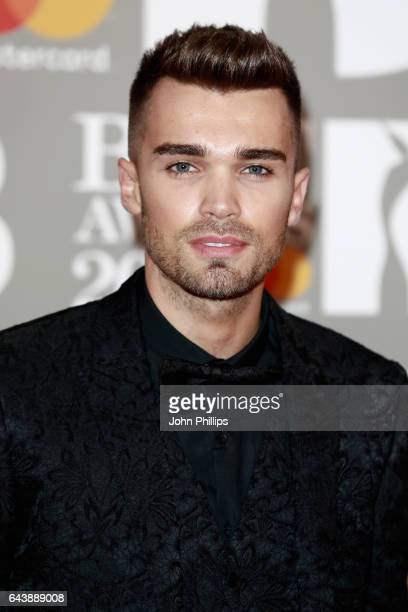 Josh Cuthbert attends The BRIT Awards 2017 at The O2 Arena on February 22 2017 in London England