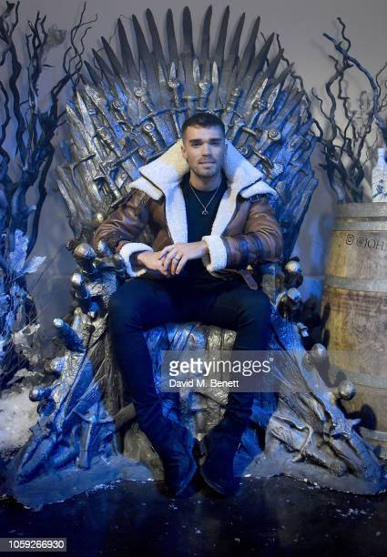 Josh Cuthbert attends the Johnnie Walker Frozen Forest popup in Shoreditch to celebrate the launch of the limitededition White Walker by Johnnie...