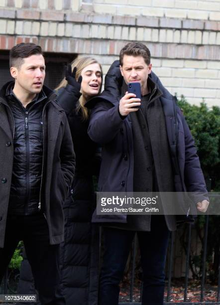 Josh Dallas and Melissa Roxburgh are seen on December 14 2018 in New York City