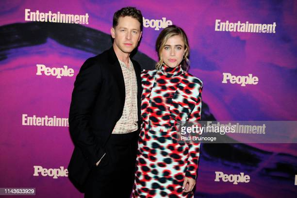 Josh Dallas and Melissa Roxburgh attend Entertainment Weekly And People Celebrate The New York Upfronts at Union Park NYC on May 13 2019 in New York...