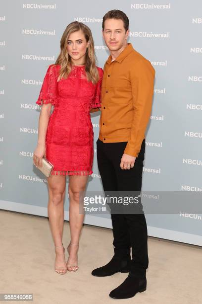 Josh Dallas and Melissa Roxburgh attend the 2018 NBCUniversal Upfront Presentation at Rockefeller Center on May 14 2018 in New York City