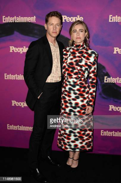 Josh Dallas and Melissa Roxburgh attend the People Entertainment Weekly 2019 Upfronts at Union Park on May 13 2019 in New York City