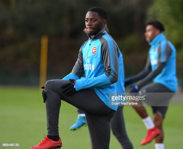 Josh Dasilva of Arsenal during a training session at London Colney on December 15 2017 in St Albans England