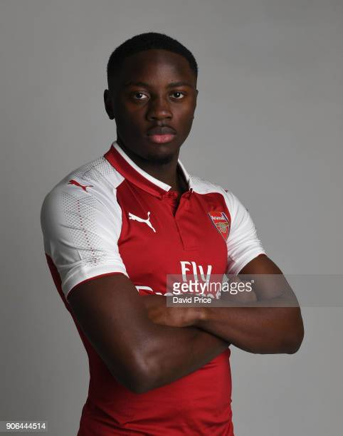 Josh Dasilva of Arsenal during an Arsenal Magazine Photoshoot at London Colney on January 8 2018 in St Albans England