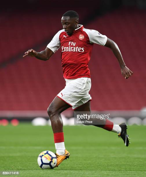 Josh Dasilva of Arsenal during the match between Arsenal U23 and Manchester City U23 at Emirates Stadium on August 21 2017 in London England
